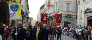 13giugno2018,gli Amici dell'Ospedale alla processione del Santo