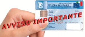Avviso Importante-codice fiscale obbligatorio